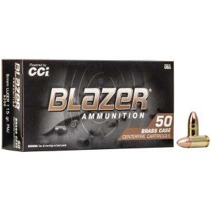CCI BLAZER 9mm 115gr FMJ/CASE