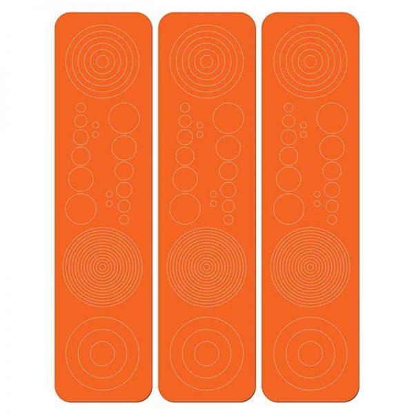 SPECIALTY ARCHERY-CIRCLES & DOTS ORANGE 3pk