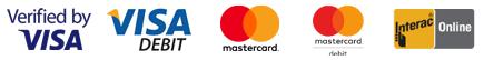 visa visa debit mastercard mastercard debit interac online payment processing available