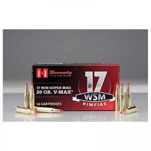 HORNADY .17 WSM 20gr V-MAX 50rd