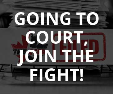 going to court, join the fight