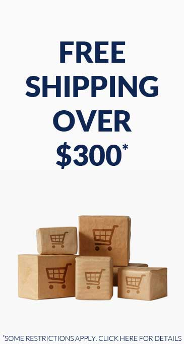 Free shipping for orders over $300
