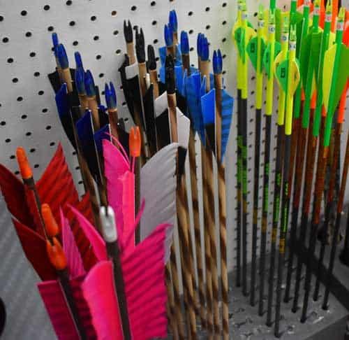 choose your own fletching on custom arrows